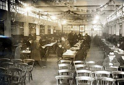 vintage soup kitchen during holidays