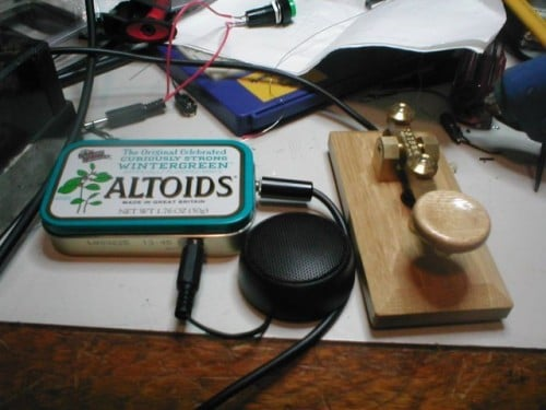 altoid tin recycled diy morse code oscillator