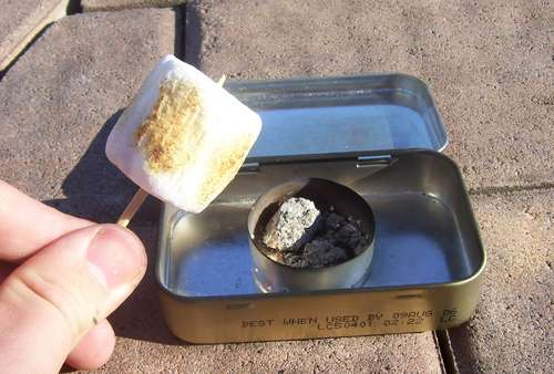 altoid tin recycled diy marshmallow roasting kit