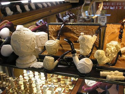 Meerschaum Pipe Collection store display case