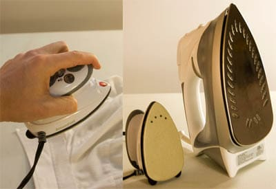 travel iron small lightweight compact compared to normal size