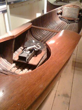 courting canoe vintage wood for two people