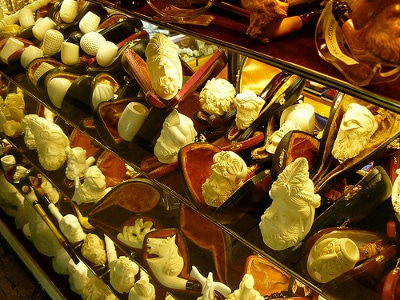 grand bazaar instanbul turkey meerschaum pipe display