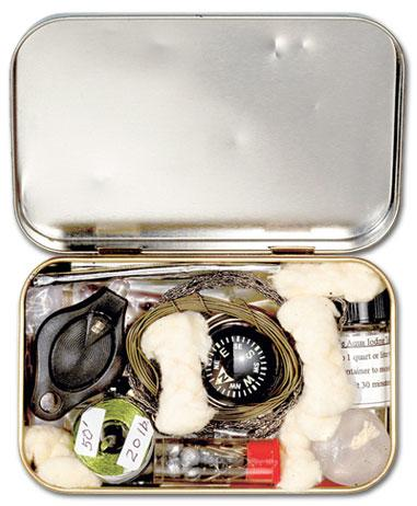 altoid tin recycled diy survival outdoors kit compass