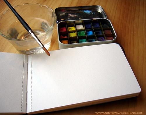 altoid tin recycled diy pocket watercolor kit