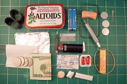 altoid tin recycled diy urban survival kit