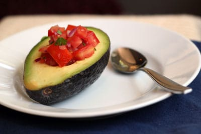 bolivian avocado salad tomatoes