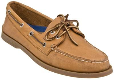 sperry topsider boat shoe brown