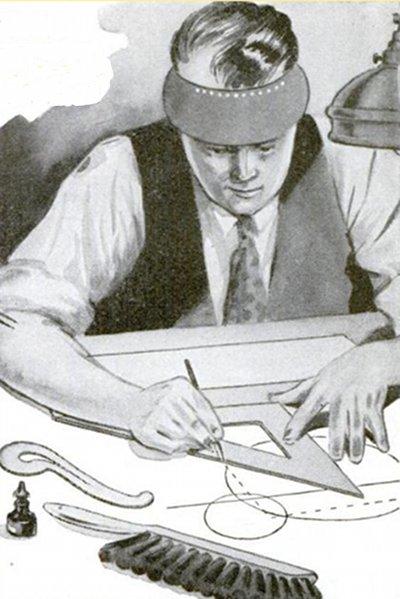 Vintage craftsman illustration.