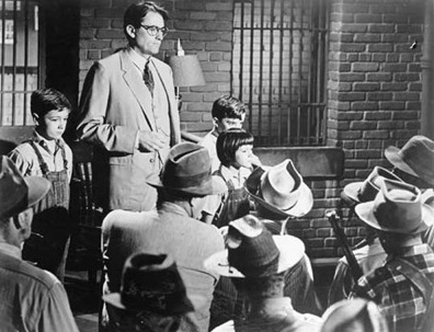 gregory peck atticus scout finch addressing mob