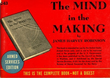 Book cover of The Mind in the Making by James Harvey Robinson.