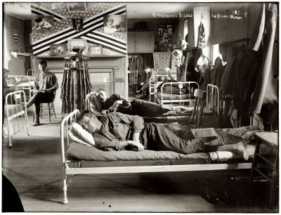 vintage men napping on bunks