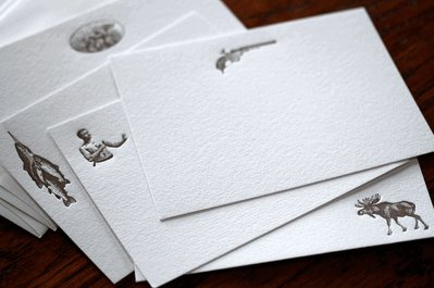correspondence cards stationery manly masculine theme