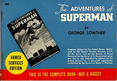 armed service edition books adventures superman