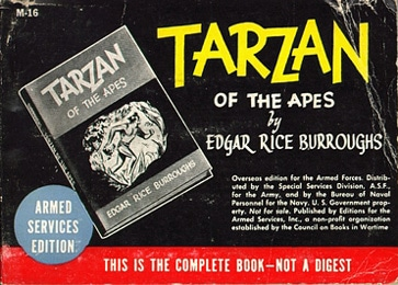 armed service edition books tarzan of the apes