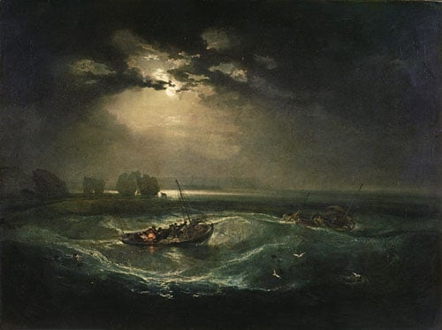 Fishermen at Sea painting by JMW Turner, 1794
