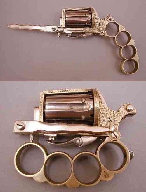Brass kunckle gun.