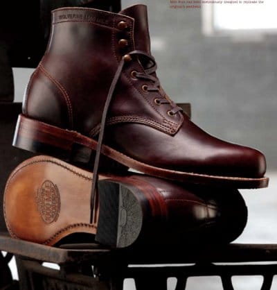 wolverine 1000 mile work boot maroon color