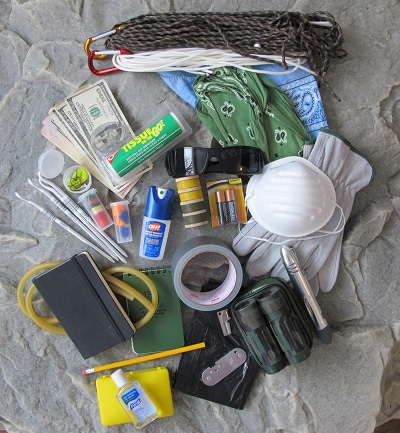 bug out bag supplies gear tape cash rope
