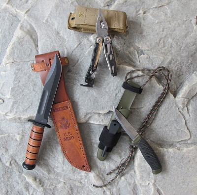 bug out bag supplies tool weapons knife multitool