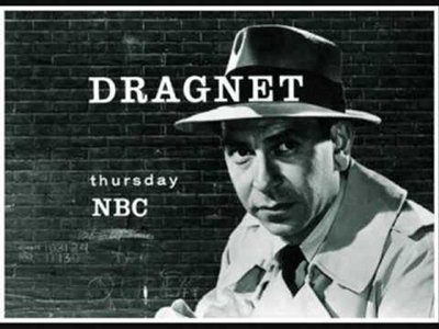 dragnet radio show man in hat trench coat nbc