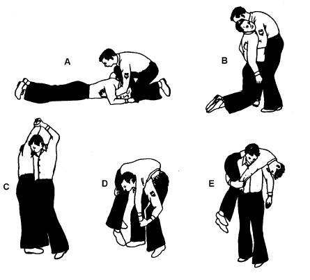 fireman's carry how to perform diagram illustration