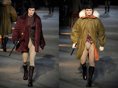 male models wearing codpieces