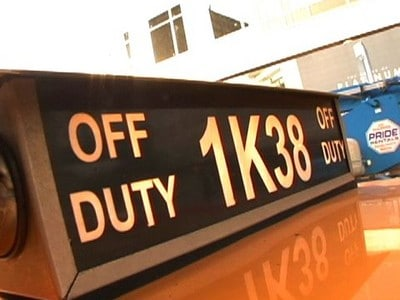 off duty taxi sign close up photo