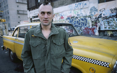 taxi driver new york mohawk scary looking