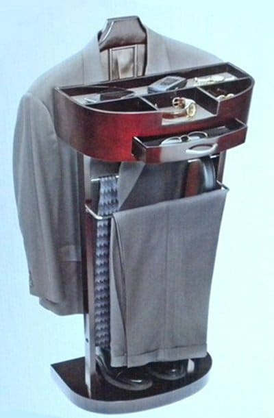 standing valet hang suit store personal items