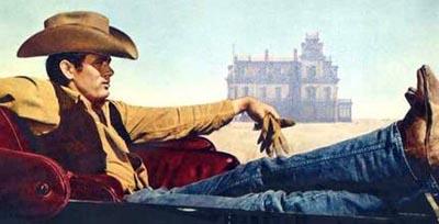 vintage cowboy painting wearing jeans hat