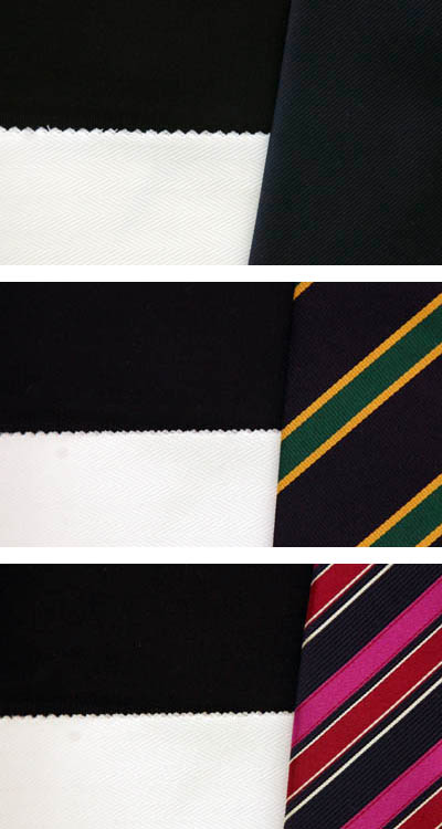 Navy Suit White Shirt matching necktie colors patterns