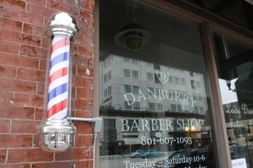 A pole of Danburry barbershop.