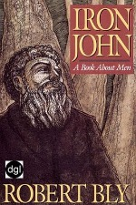 Book cover of Iron John by Robert Bly.