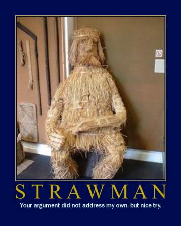 strawman motivational poster sarcastic argument
