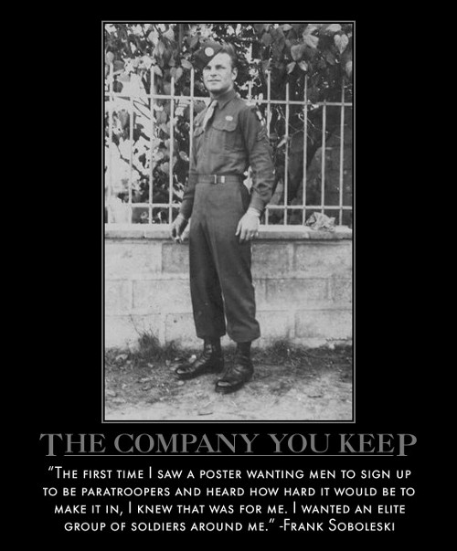 frank soboleski paratrooper soldiers quote motivational poster