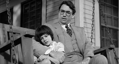 atticus and scout finch on bench to kill a mockingbird