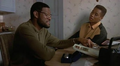 Boyz n the hood movie Laurence Fishburne talking with son.