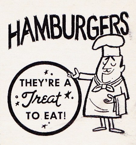vintage hamburger ad advertisement treat to eat