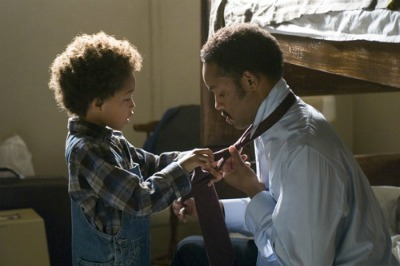 pursuit of happyness movie son tying dad's tie