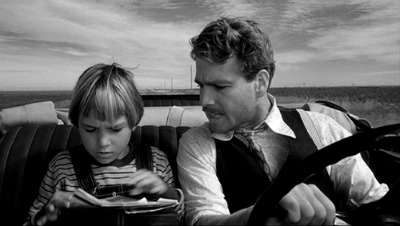 paper moon movie father son in car driving