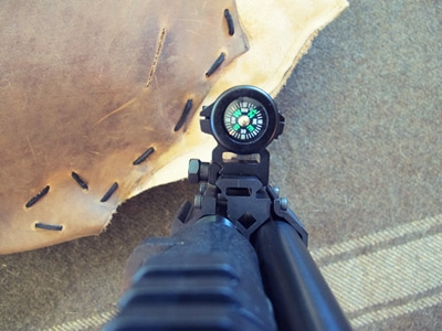 survival shotgun modified zombie apocalypse compass mounted
