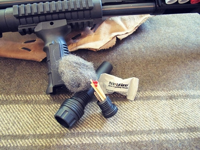 survival shotgun modified zombie apocalypse fire kit