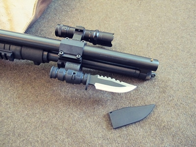 survival shotgun modified zombie apocalypse flashlight mounted