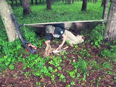 creek stewart emergency blanket survival shotgun woods