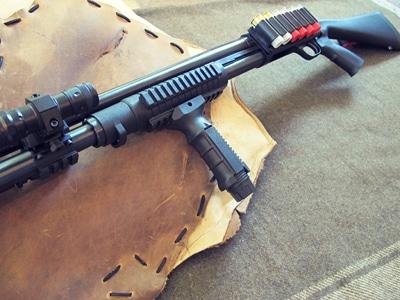 survival shotgun modified zombie apocalypse vertical grip