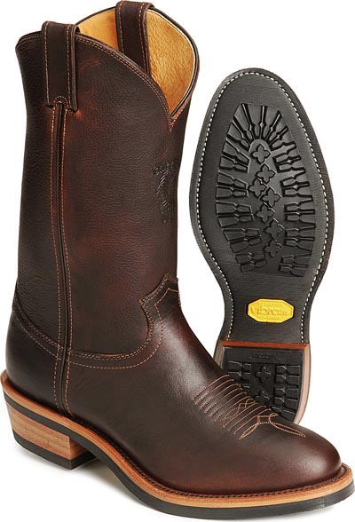 Western cowboy work boots rubber soles good tread