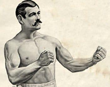 boxing manly pose vintage boxer pugilist sullivan