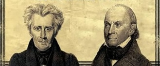 andrew jackson john quincy adams side by side painting