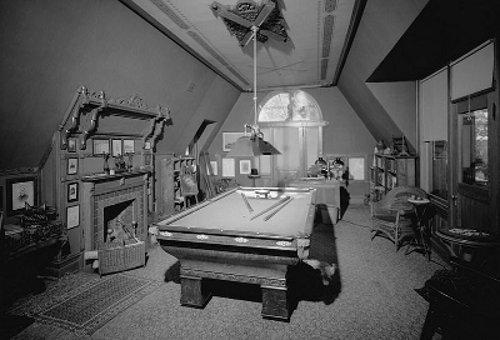 mark twain billiards room attic pool table